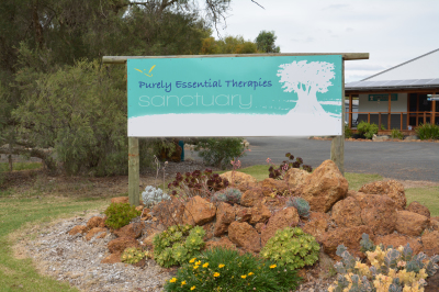 Ripple Bowen; Purely Essential Therapies Sanctuary; Abbey; Busselton; Signage; WA